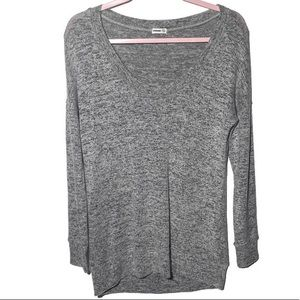 Garage Gray Long Sleeve Pullover Sweater